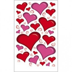 Kalkomania artystyczna - Heart Accents