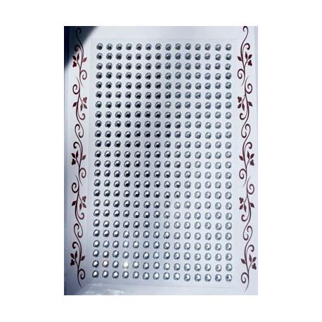 Kryształki samoprzylepne lustrzane 4 mm