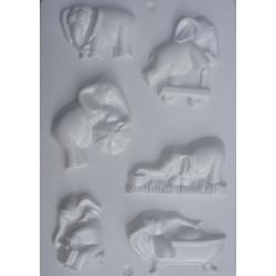 Foremka do odlewów gipsowych słonie