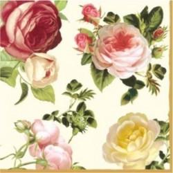 Serwetki do decoupage - eleganckie róże 25x25