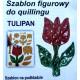 Szablon do quillingu - Tulipan