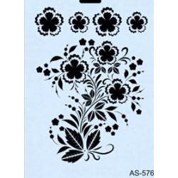 Szablon A4 Cadence AS576 - egzotyczne kwiaty