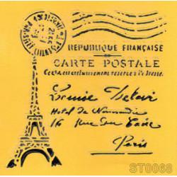 Szablon pocztówka z Paryża
