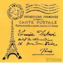 Szablon 16cm x 16cm - pocztówka z Paryża
