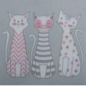 Serwetki do decoupage - kotki szaro- różowe