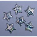 Gwiazdy z materiału - srebrne