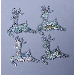 Renifery z materiału - srebrne