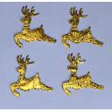 Renifery z materiału - złote