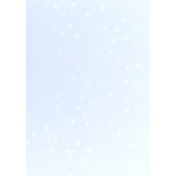 Karton dwustronny srebrne gwiazdy
