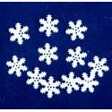 Śnieżynki 10mm białe