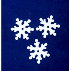 Śnieżynki 13 mm białe