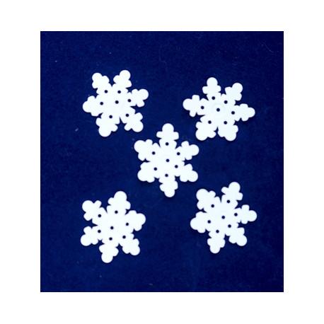Śnieżynki 25 mm białe