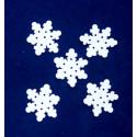 Śnieżynki 25mm białe