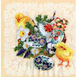 Serwetki do decoupage - kurczaki i pisanki