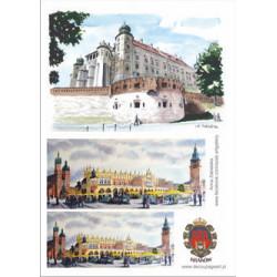 Papier ryżowy Kraków 001