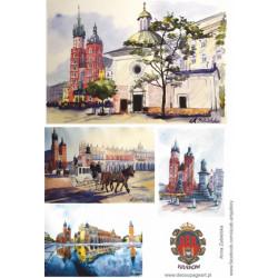 Papier ryżowy Kraków - Rynek Główny