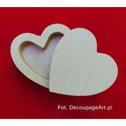 Szkatułka z drewna serce mała