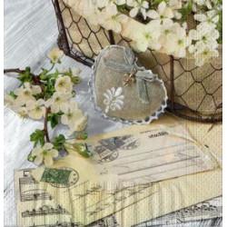 Serwetki do decoupage - listy i kwiaty wiśni