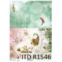 Papier ryżowy ITD Collection 1546 ptaszyny